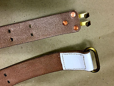 49d9fa5d4701 U.S. WWI 1907 Pattern White Leather Garand Rifle Sling  Brass Fittings  (Repro)