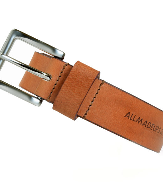 COATED LONDON TAN LEATHER BELT