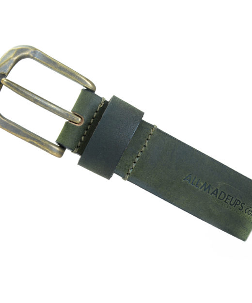 ROBUST ALASKA OLIVE LEATHER BELT