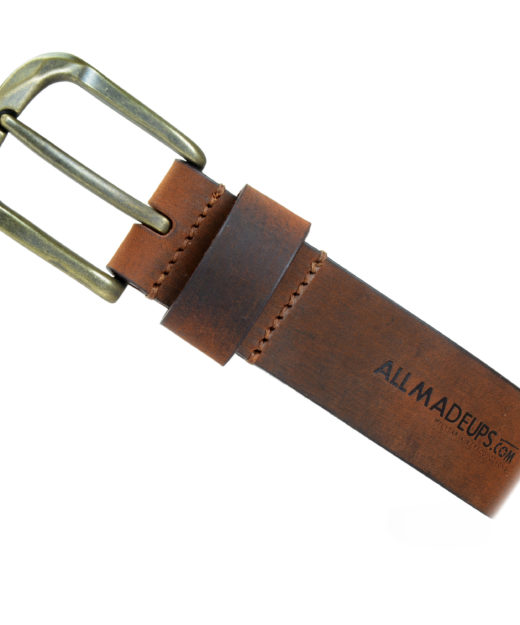 ROBUST HONEY BROWN LEATHER BELT
